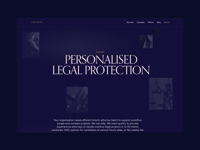 Landing Page Concept legal attorney law concept landing page