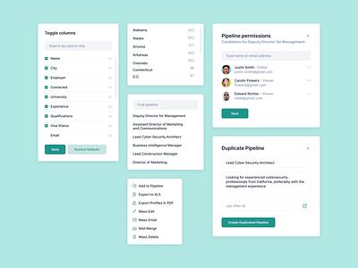 Context Menus & Modals search duplicate permissions toggle options context menu modal