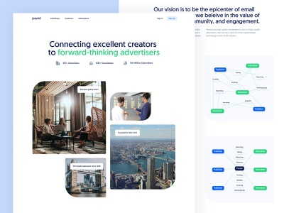 Paved – About page homepage landing marketing about company website email saas newsletter