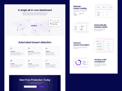Feroot – Inspector Landing Page hack protection front-end purple assessment compliance gdpr security hero saas landing web