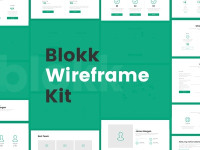 Blokk Kit: Smart hi-fi wireframe screens 🚀 free fonts typeface kit ui wireframe freebie ui kit prototype sketch photoshop ux