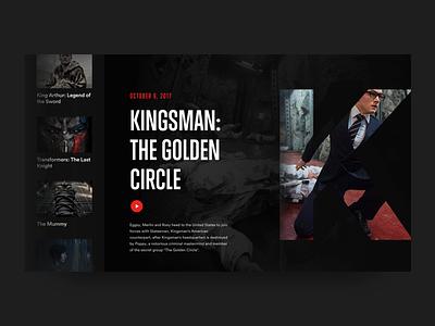 Day 040 – Movie Slider kingsman netflix freebie free video card text ui fonts movie layout dailyui