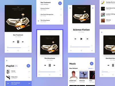 Rodman UI Kit: Music Player & Playlist Templates app ui kit music ios mobile android ux playlist player kit concept color