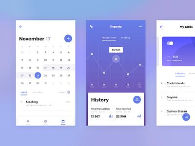 Rodman UI Kit: Finance Data color concept kit chart card ux android mobile ios music ui kit app