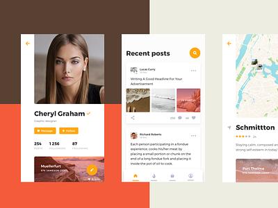 Rodman UI Kit: Custom Color Scheme color concept kit profile card ux android mobile ios ui kit app