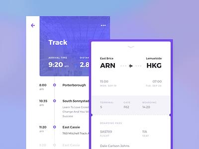 Rodman UI Kit: Travel color concept kit pass card ux android mobile ios travel ui kit app
