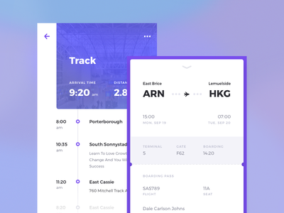 Rodman UI Kit: Travel color concept kit pass card ux android mobile ios travel ui kit app