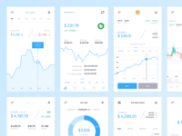 Crypto Mobile UI Kit: Graphs & Charts