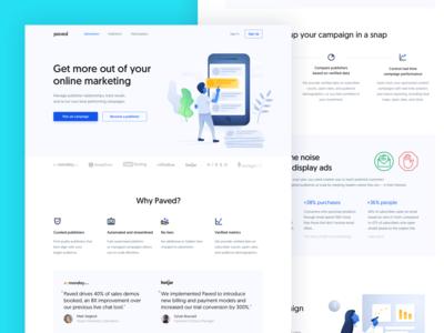 Paved – Advertiser Landing Page