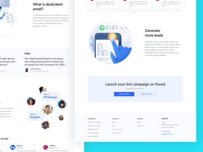 Paved – Dedicated Email Landing Page