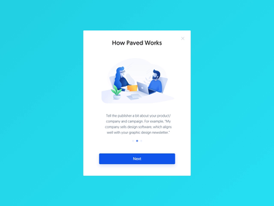 Paved – Request Campaign Modal Animation