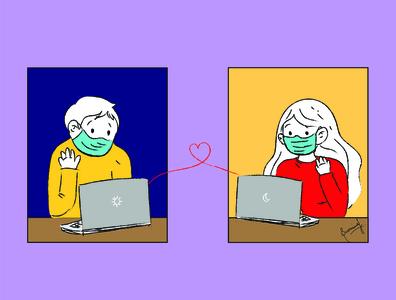 Love in 2020 series. character design digital art cartoon art cartoon illustration comic art adobe illustrator vector adobe illustration photoshop design