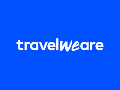 TravelWeAre Logo design typography branding logo