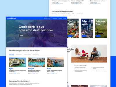 TravelWeAre Homepage travel typography ui webdesign