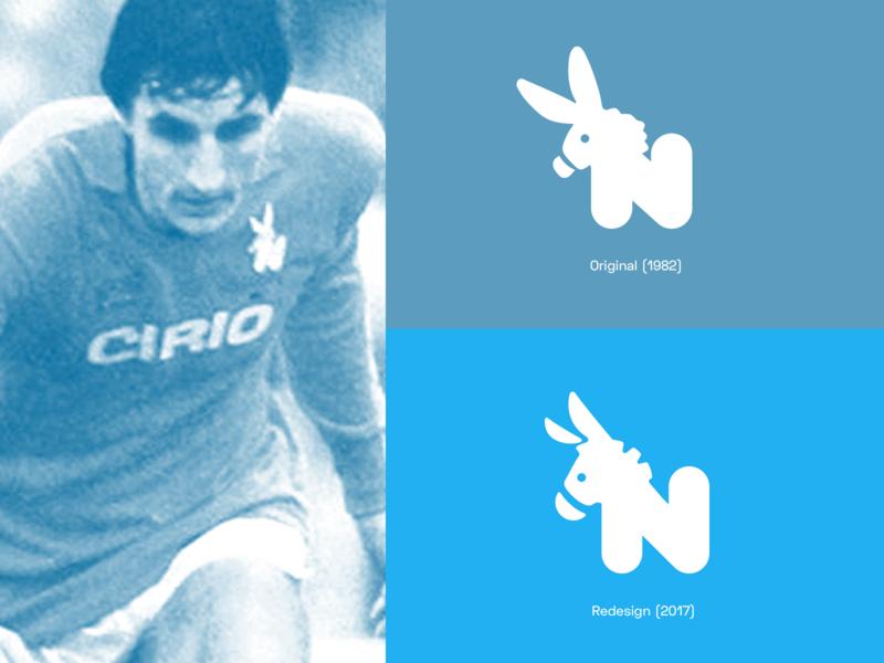 E-Napoli Store - Logo redesign soccer napoli n brand illustration minimal logo