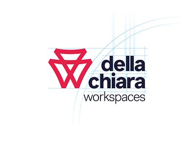 Della Chiara - Logo construction design furniture minimal brand logo