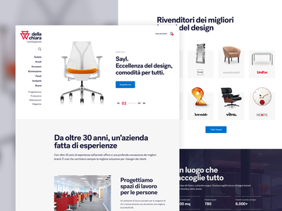 Della Chiara - Homepage furniture website design typography minimal ui