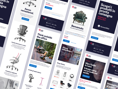 Della Chiara - Newsletters furniture newsletter ui minimal typography