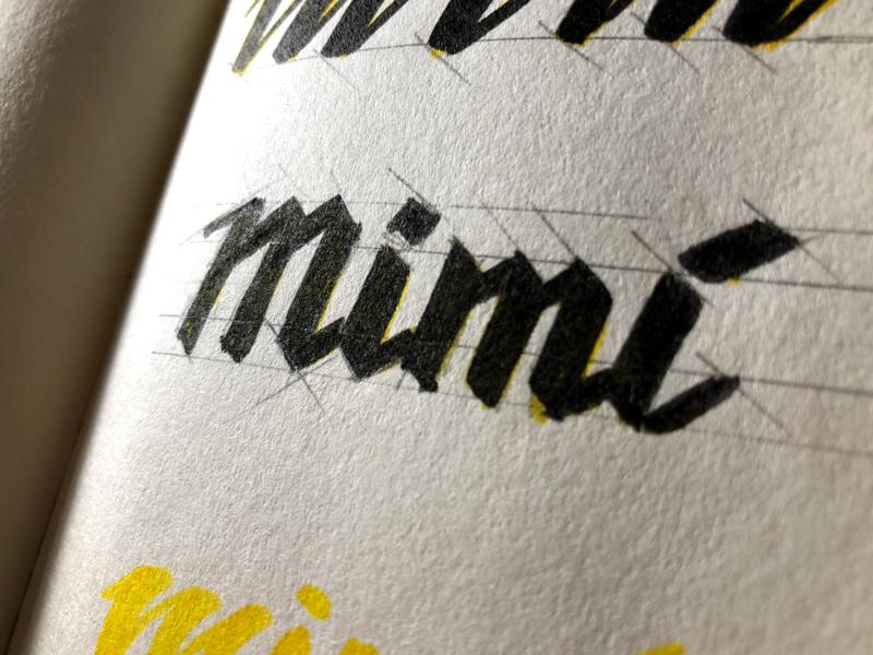 Gozzi Mimí - Sketch sketch boat gozzi logo typography brand
