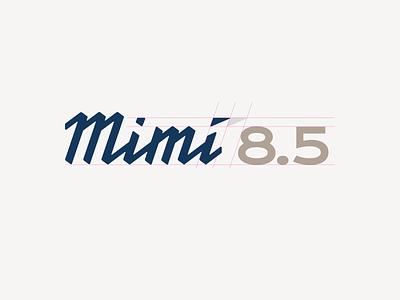 Mimí - Logo + Model vessel boat design brand typography logo
