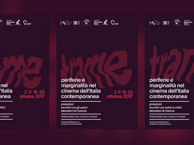 trame - 2017 cinema old poster print design minimal typography