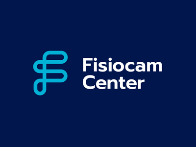 Fisiocam - Option B vector knot minimal design brand logo