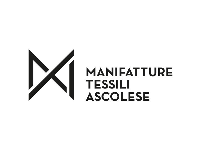 MTA - manifatture tessili ascolese a t m initials monogram manufacturing textile brand logo