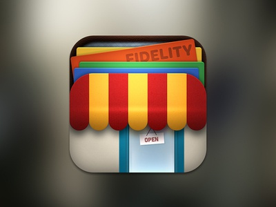 Multifunctional shop app icon