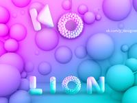 KO LION logo icon web design