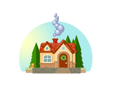Sweet Home scenery home house graphic design graphic illustraion illustrator card ui illustration vector illustration art vector