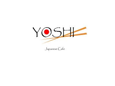 Yoshi - Japanese Cafe Logo minimalist logo minimalistic white and black cafe cafe branding cafe logo japanese food japan japanese sushi sushi bar sushi logo yoshi logotype logodesign logo design branding logo design vector