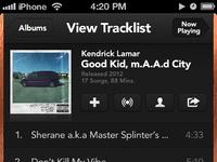 Music iphone tracklist