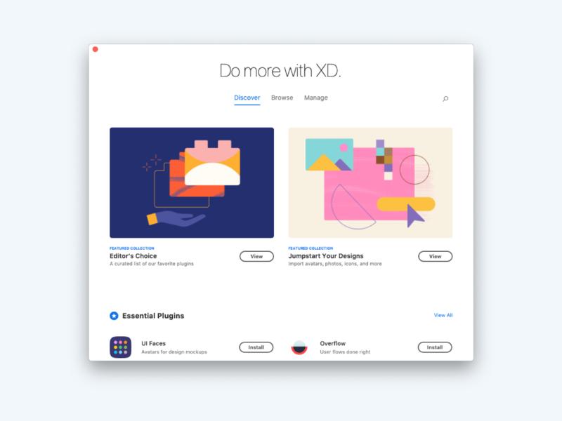 Adobe XD Plugin Manager xd adobexd manager plugins illustration creative cloud app colors adobe