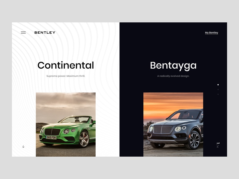 Bentley website web ui app ux interface concept