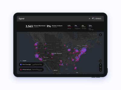 Network Monitoring Dashboard map dashboard app ui
