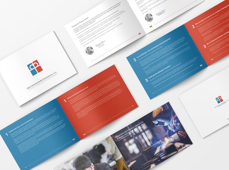 Brochure Design flyer a5 blue red logo church branding church design church brochure layout brochure design layout brochure
