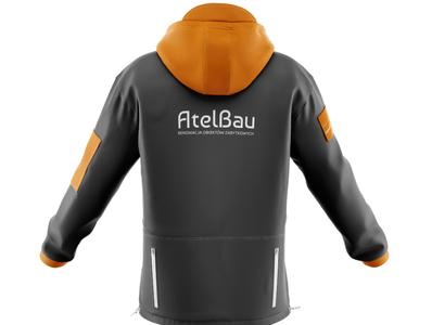 Jacket With Logo on Back restoration stones stone monument branding design brand design brand identity orange jacket logo clothing design clothing clothing brand branding