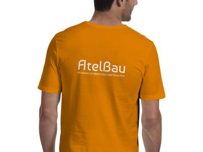 T-Shirt - AtelBau identity design identity bauhaus orange logo brand identity brand design brand print shirt design shirtdesign shirts shirt tshirt design tshirtdesign tshirts tshirt