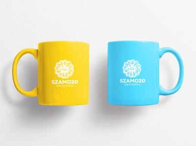Mug Design for City Summer Festival visual identity city identity branding poland logo cup identity design yellow coffee cup coffee mug design mugs mug