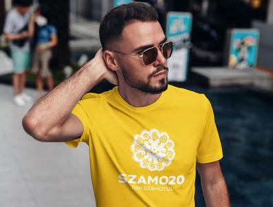 T-Shirt - Summer Festival Branding beard caucasian handsome glasses men logo design logo visual identity identity brand branding yellow tshirt design tshirtdesign tshirts tshirt