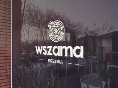 Pizza Restaurant Logo - Window Graphic Design