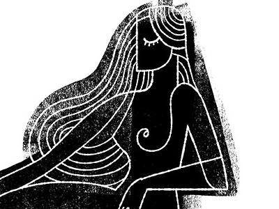 Seated Figure Print print figure woman girl female figurative illustration drawing