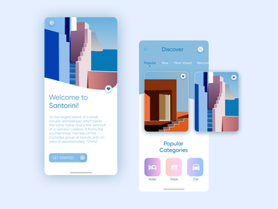 Travel Mobile App ux app design figma ui