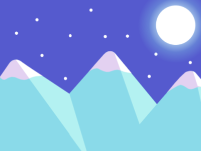 Midnight Mountains minimal midnight design vector illustration