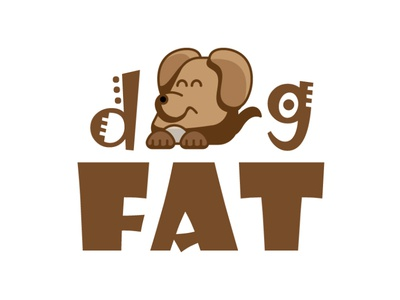 dog fat icon branding type flat art vector logo illustrator illustration design