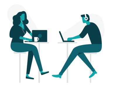 Millennials Working work millennials working illustration