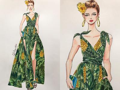 DOLCE&GABBANA watercolor handdrawing fashionillustration illustration fashion