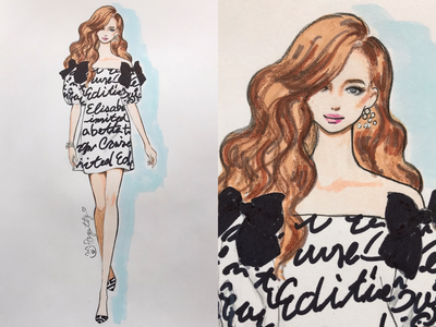 ELISABETTA  FRANCHI fashionweek sketch draw fashionart fashionillustration handpainting handdraw illustration fashion