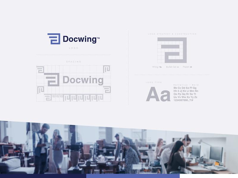 Docwing visual design visual identity minimal logo design icon logo flat design creative logo branding brand identity design brand identity brand