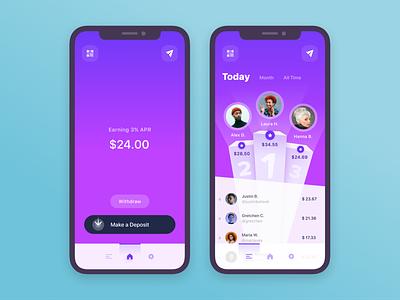 Designing a Leaderboard Into a Blockchain App engaging leaderboard fun mobile app blockchain ui ux design